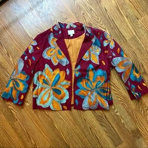 Anthropologie ett:twa Woodstock Embroidered jacket